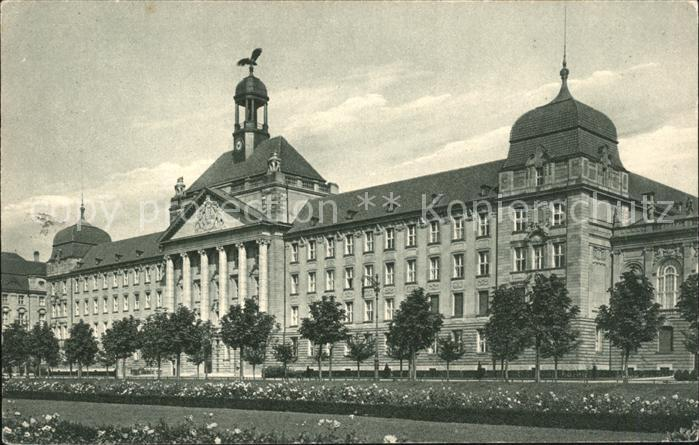 Duesseldorf Koenigliche Regierung Gebaeude Serie II Nr 7 Wappen Kat. Duesseldorf