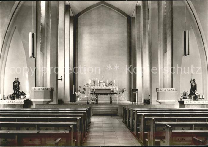 Herrensohr Inneres der Katholischen Pfarrkirche St Marien Altar Kat. Saarbruecken