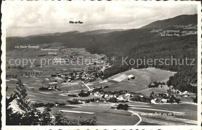 Villiers Val de Ruz Panorama Kat. Villiers