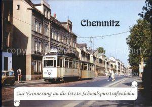 Chemnitz zur Erinnerung an die letzte Schmalspurstrassenbahn Kat. Chemnitz