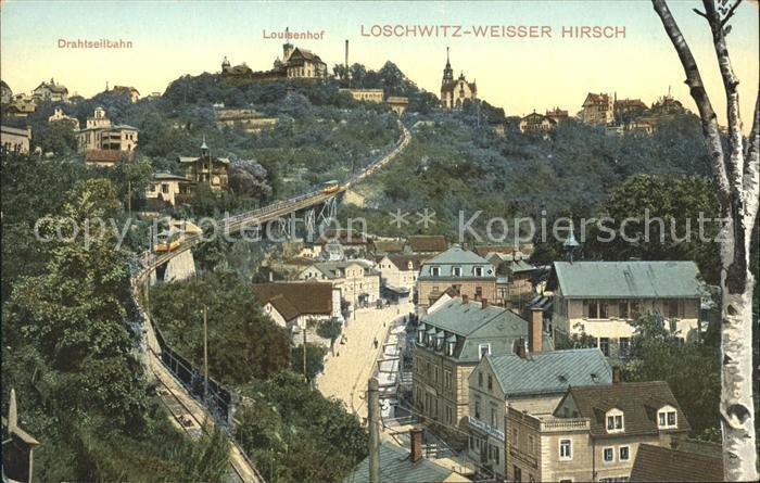 Loschwitz Louisenhof Drahtseilbahn Kat. Dresden