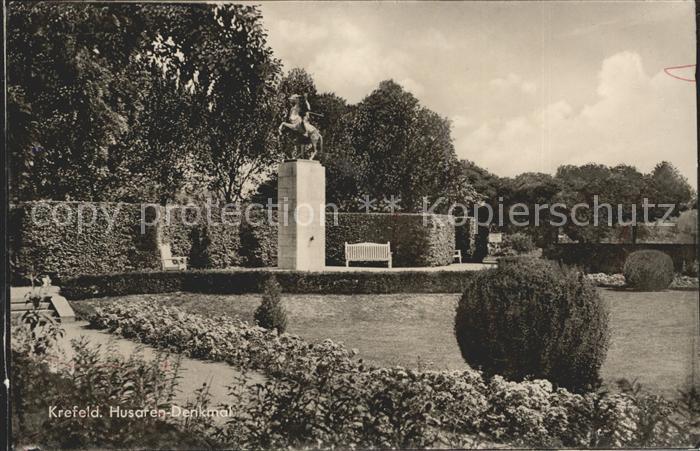 Krefeld Husaren Denkmal Kat. Krefeld
