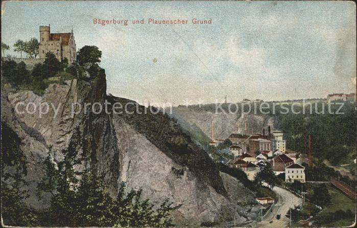 Dresden Baegerburg und Plauenscher Grund Kat. Dresden Elbe