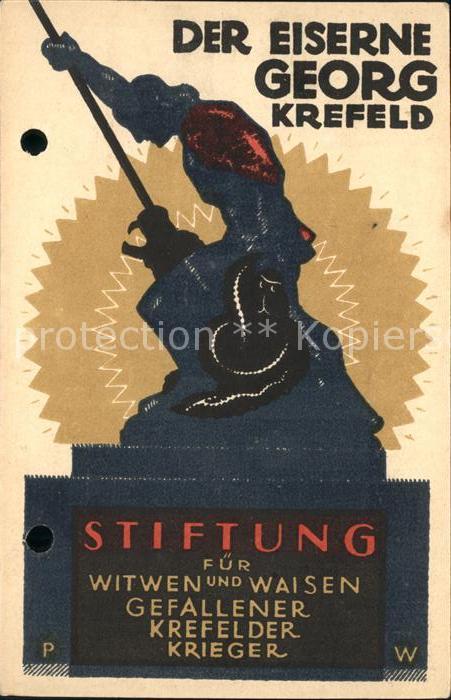 Krefeld Der Eiserne Georg Standbild Stiftung fuer Witwen und Waisen gefallener Krieger Kat. Krefeld