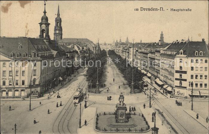 Dresden Hauptstrasse Denkmal Kat. Dresden Elbe