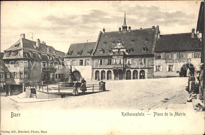 Barr Bas Rhin Rathausplatz Place de la Mairie Kat. Barr