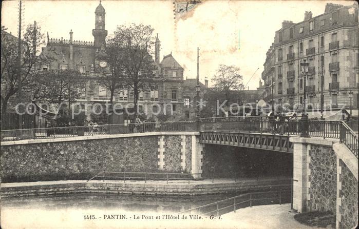 Pantin Pont et Hotel de Ville Kat. Pantin