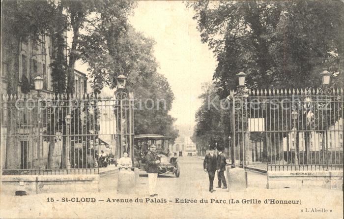 Saint Cloud Hauts de Seine Avenue du Palais Entree du Parc Grille d Honneur Kat. Saint Cloud
