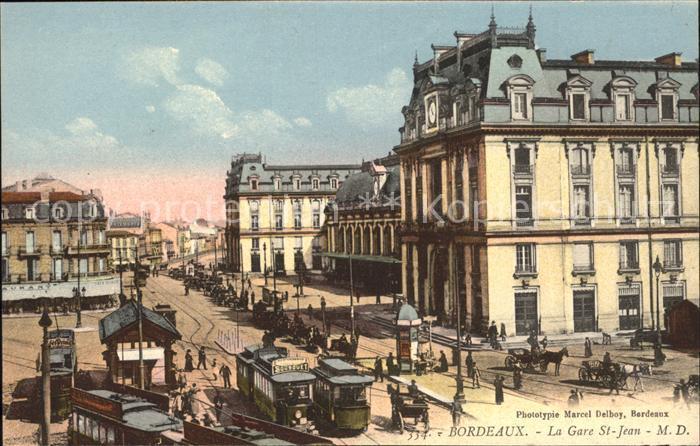 Bordeaux La Gare Saint Jean Tram Kat. Bordeaux