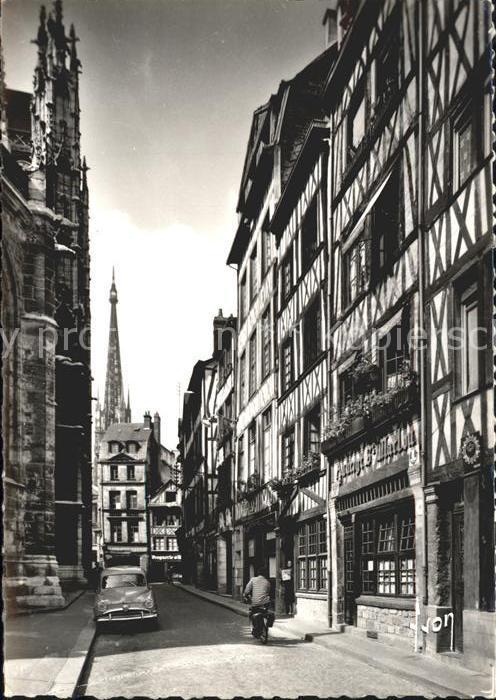 Rouen Rue Martinville Maisons a pans de bois XVII et XVIII siecle Kat. Rouen