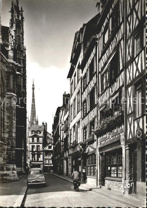 Rouen Rue Martinville Maisons a pans de boix XVII et XVIII siecle Kat. Rouen