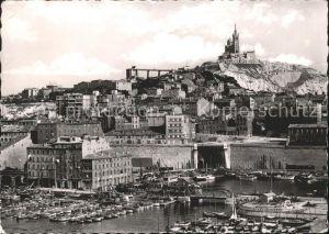 Marseille Bassin du Carenage Basilique de Notre Dame de la Garde Kat. Marseille