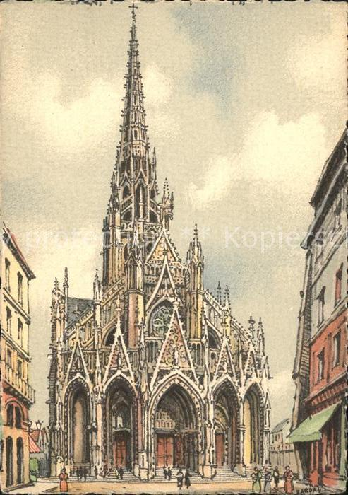 Rouen Eglise Saint Maclou Kuenstlerkarte Kat. Rouen