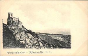 Rappoltsweiler Haut Rhin Elsass Burg Giersberg Kat. Ribeauville