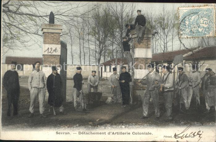Sevran Detachement d Artillerie Coloniale Kat. Sevran
