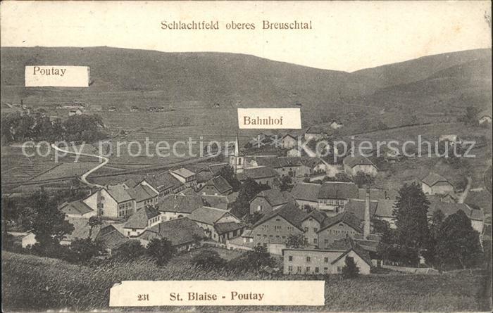 Saint Blaise la Roche Schlachtfeld oberes Breuschtal 1. Weltkrieg Kat. Saint Blaise la Roche