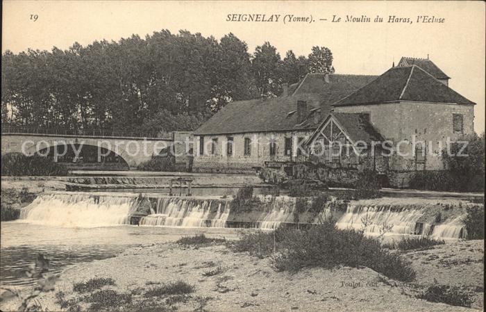 Seignelay Moulin du Haras Ecluse Kat. Seignelay