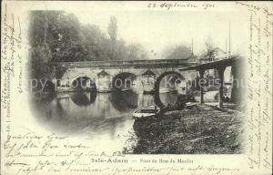 L Isle Adam Pont du Bras du Moulin Kat. L Isle Adam