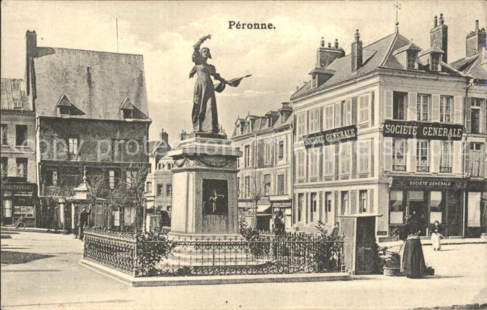 Peronne Somme Monument Denkmal Statue / Peronne /Arrond. de Peronne
