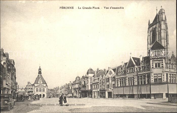 Peronne Somme Grande Place vue d'ensemble / Peronne /Arrond. de Peronne