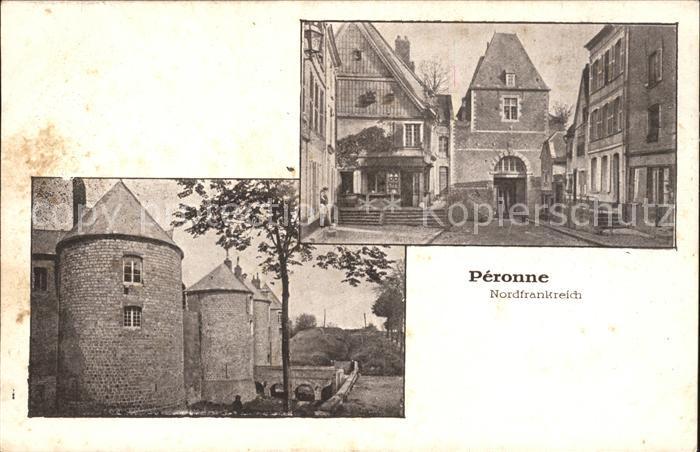 Peronne Somme Teilansicht Schloss Chateau / Peronne /Arrond. de Peronne