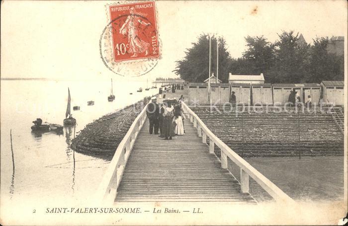 Saint Valery sur Somme Les Bains Stempel auf AK Kat. Saint Valery sur Somme