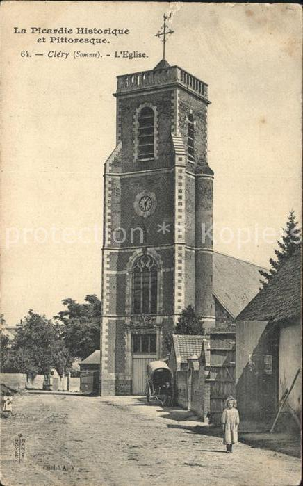 Clery sur Somme Eglise Kat. Clery sur Somme