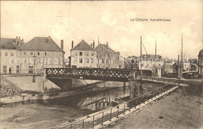 Le Chesne Ardennes Kanalbruecke Kat. Le Chesne