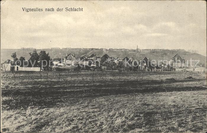 Vigneulles nach der Schlacht 1. Weltkrieg Kat. Vigneulles