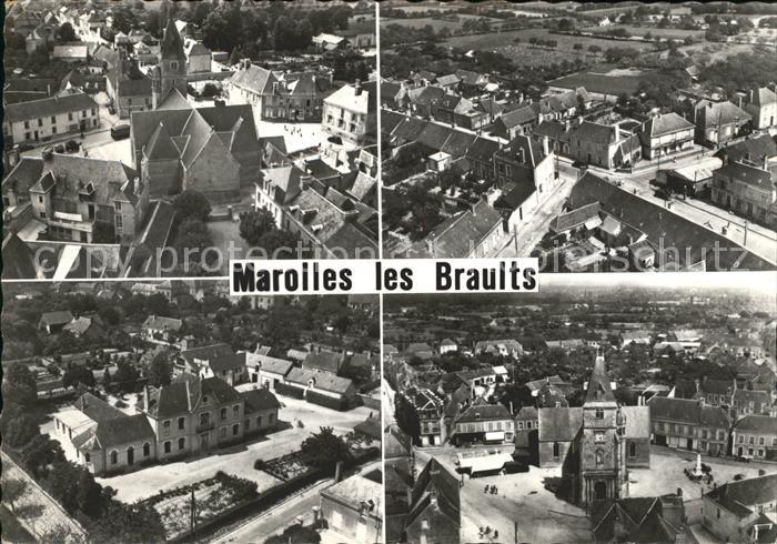 Marolles les Braults Place de l Eglise Hospice Route de Mamers Kat. Marolles les Braults
