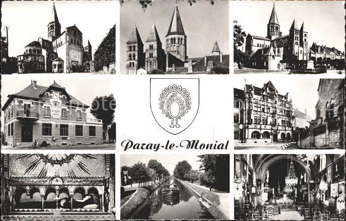 Ak paray le monial eglise vue partielle pont nr - Piscine paray le monial ...