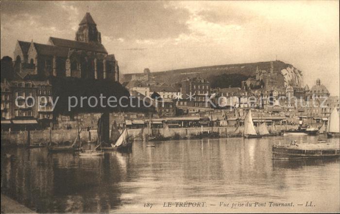Le Treport Eglise vue prise du Pont Tournant Kat. Le Treport