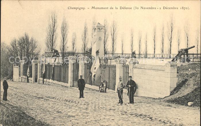 Champigny sur Marne Monument de la Defense Kat. Champigny sur Marne