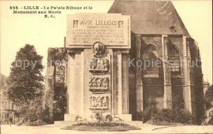Lille Nord Palais Rihour Monument aux Morts Kriegerdenkmal Kat. Lille