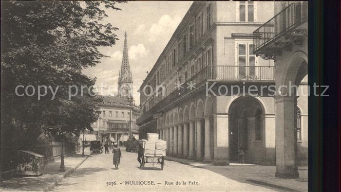 Mulhouse Muehlhausen Rue de la Paix Eglise Kat. Mulhouse