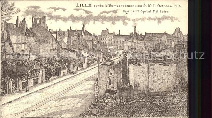 Lille Nord apres le bombardement October 1914 Grande Guerre 1. Weltkrieg Kat. Lille