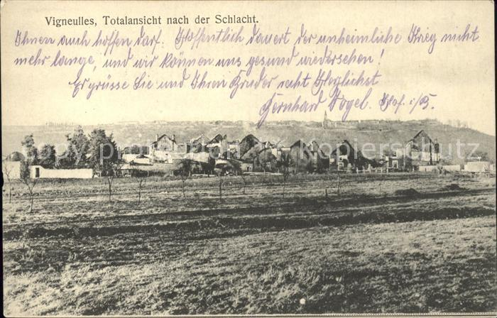 Vigneulles Totalansicht nach der Schlacht 1. Weltkrieg Kat. Vigneulles
