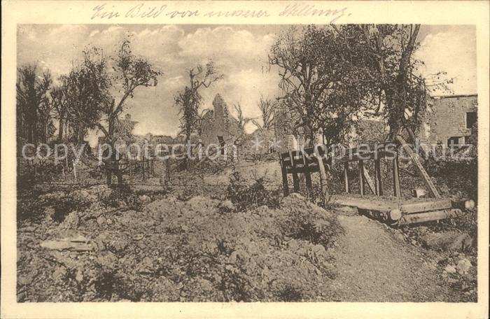 La Ville aux Bois Teilansicht Holzbruecke Kat. La Ville aux Bois