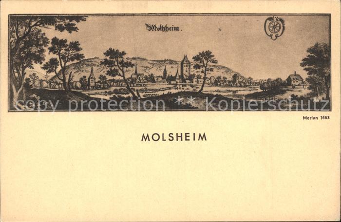 Molsheim Gesamtansicht nach Merian 1663 Kat. Molsheim