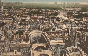 Reims Champagne Ardenne Blick auf die zerstoerte Stadt 1. Weltkrieg Grande Guerre Kat. Reims