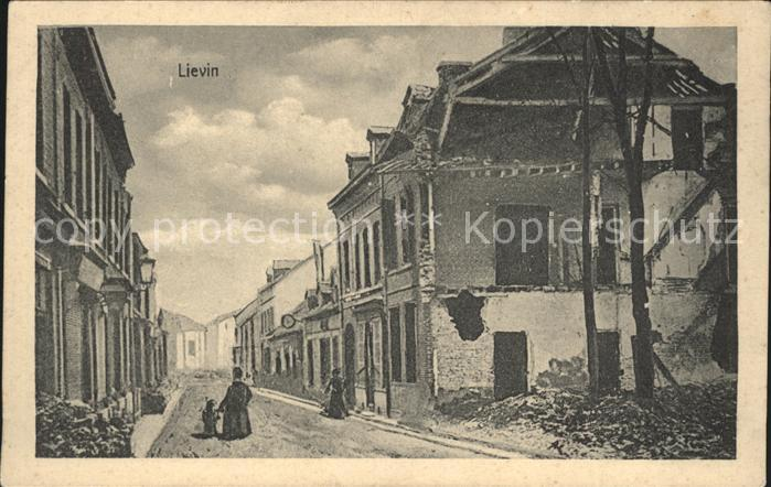 Lievin Ruines Grande Guerre 1. Weltkrieg Kat. Lievin