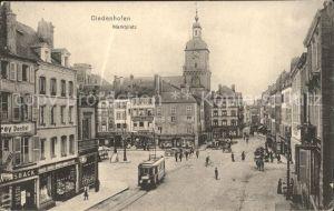 Diedenhofen Marktplatz Strassenbahn Kat. Thionville