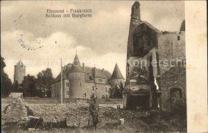 Blamont Doubs Schloss mit Burgturm Ruinen 1. Weltkrieg Grande Guerre Kat. Blamont