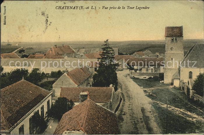 Chatenay d Eure et Loir Vue prise de la Tour Legendre Kat. Chatenay