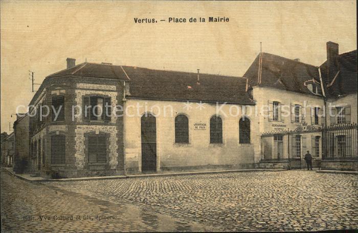 Vertus Place de la Mairie Kat. Vertus