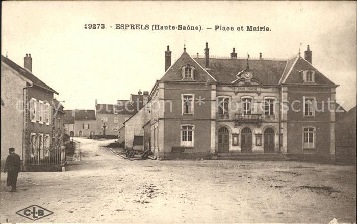Esprels Place et Mairie Kat. Esprels