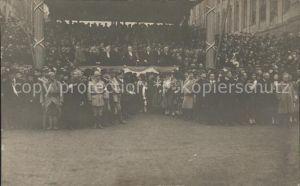 Strasbourg Alsace Pendant l arrivee du Marechal Petain November 1918 Kat. Strasbourg