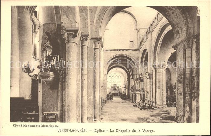 Cerisy la Foret Eglise Chapelle de la Vierge Monument historique Kat. Cerisy la Foret