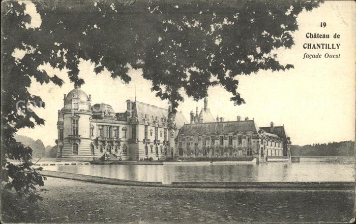 Chantilly Chateau Facade Ouest Kat. Chantilly