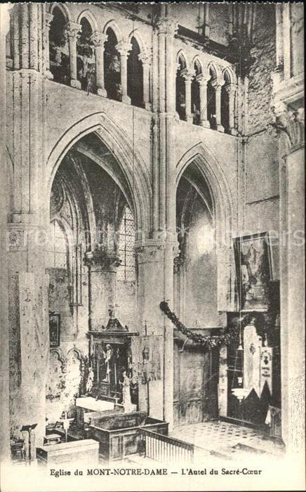 Mont Notre Dame Eglise Autel du Sacre Coeur Monument historique Kat. Mont Notre Dame